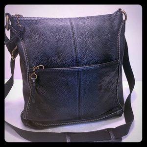 The SAK Black Large Pebble Leather Bag Tote Purse